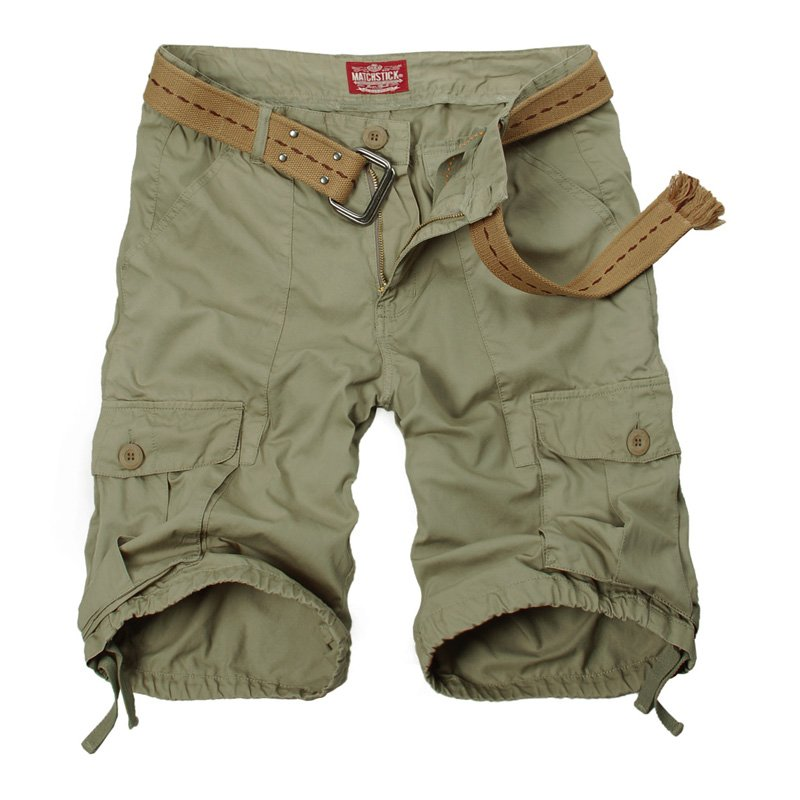 New issues Matchstick 100% cotton men's cargo shorts khaki shorts ...