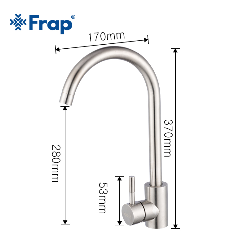 Frap Stainless Steel Kitchen Faucet Hot & Cold Water 360 Rotate Oatmeal Mixer Faucet for Kitchen Torneira Cozinha Y40107/-1