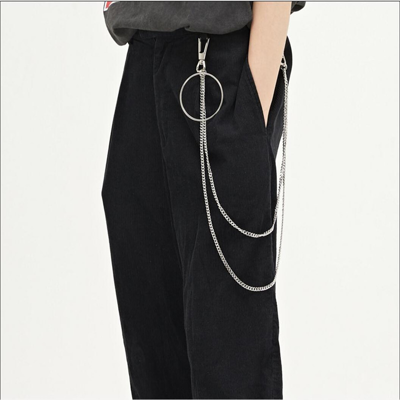 Home Zogaa Frauen Cargo Hosen Damen Beiläufiges Breites Bein Hohe Taille Einfarbig Armee Hosen Weiblichen Kette Fracht Streetwear Hosen 2019 Heißer