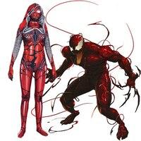 Cletus Kasady Carnage Venom Spider Man Cosplay Costume Spandex Lycra Woman Halloween Costume Jumpsuits Zentai Combat