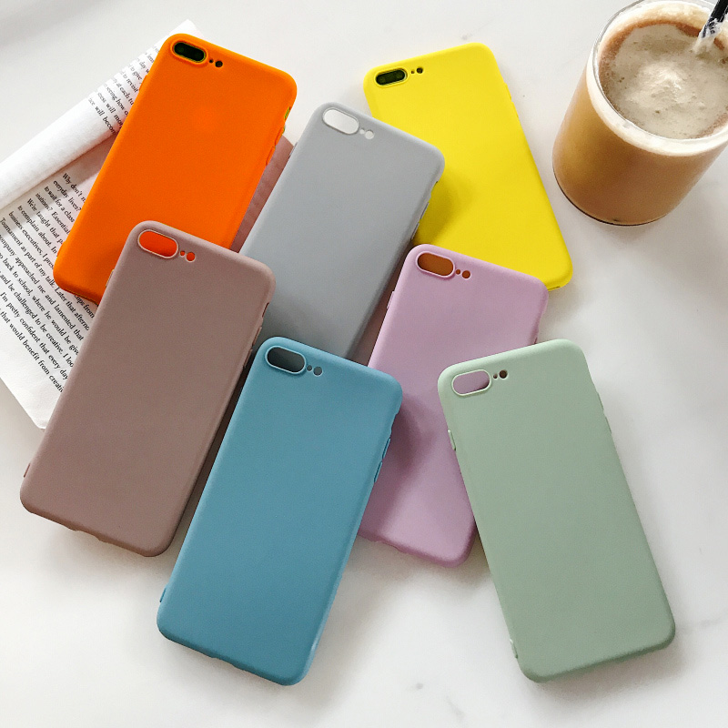 Simple Solid Color Soft <font><b>Case</b></font> for <font><b>Vivo</b></font> V11i Y51 Y53 Y55 Y66 Y67 Y75 Y79 Y85 Y93 Y95 Y97 V7 V9 <font><b>X9S</b></font> 7 6 27 X23 X21UD X20 Plus Cover image