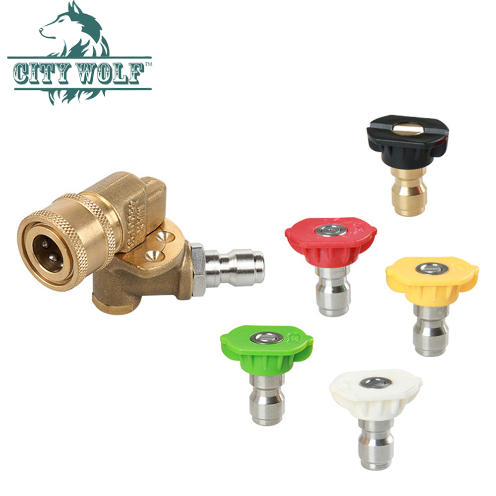 Quick Connecting Pivoting Coupler for Pressure Washers Nozzles Cleaning