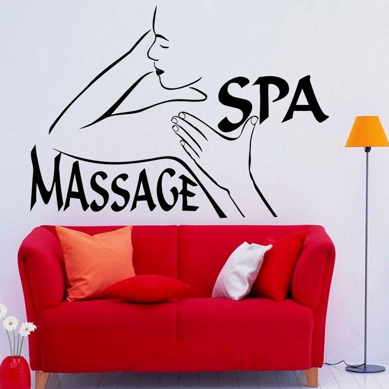 Beauty Salon Wall Decor Massage Spa Wall Sticker Girls Woman Modern