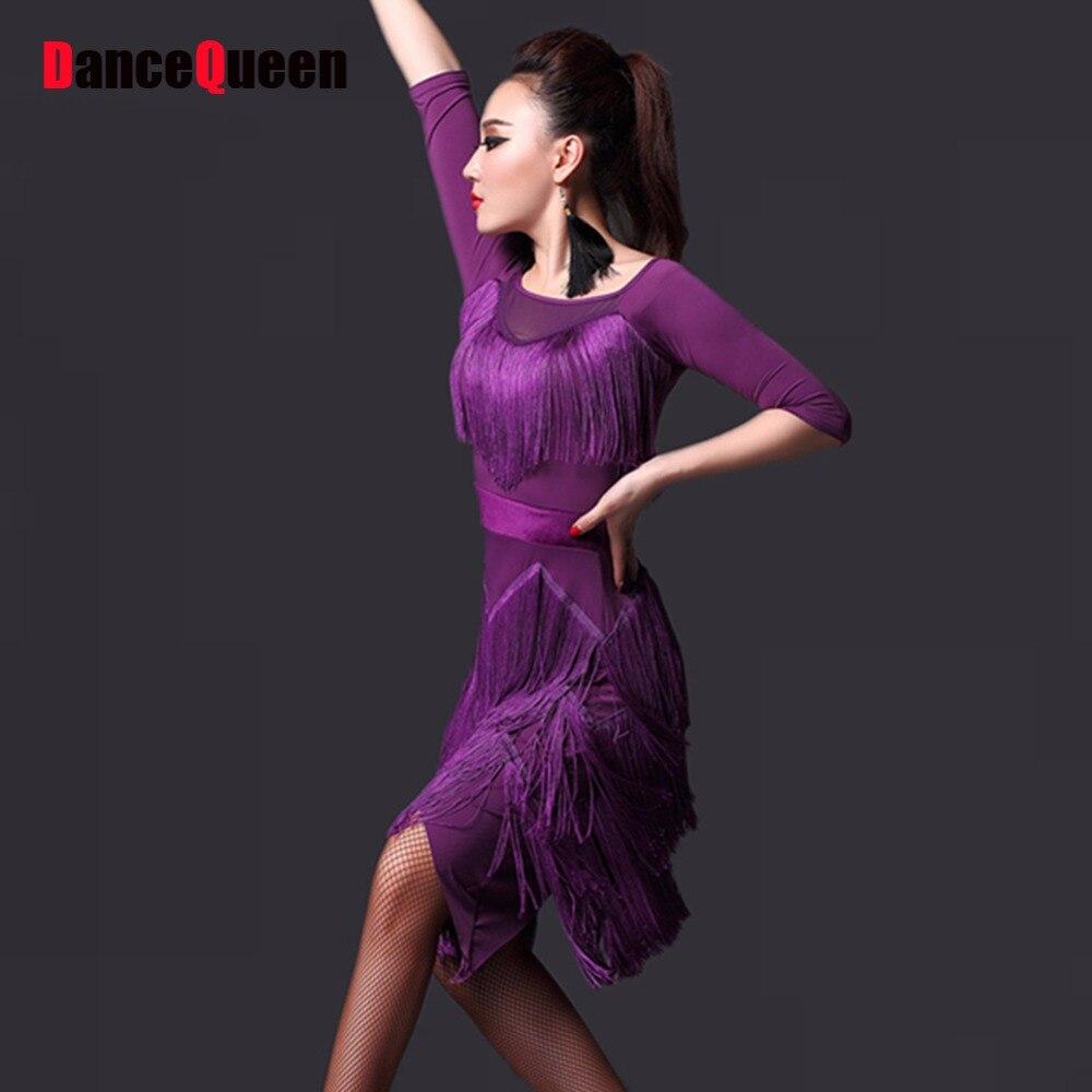 2018 Latino Dance trajes para mujeres salsa Vestidos profesional ...