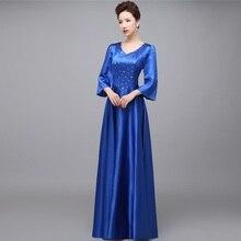 2017 Red Formal Bodenlangen Satin Elegantes Königsblau Damen kristall Lange Abendkleider Plus Size Mutter der Braut A40