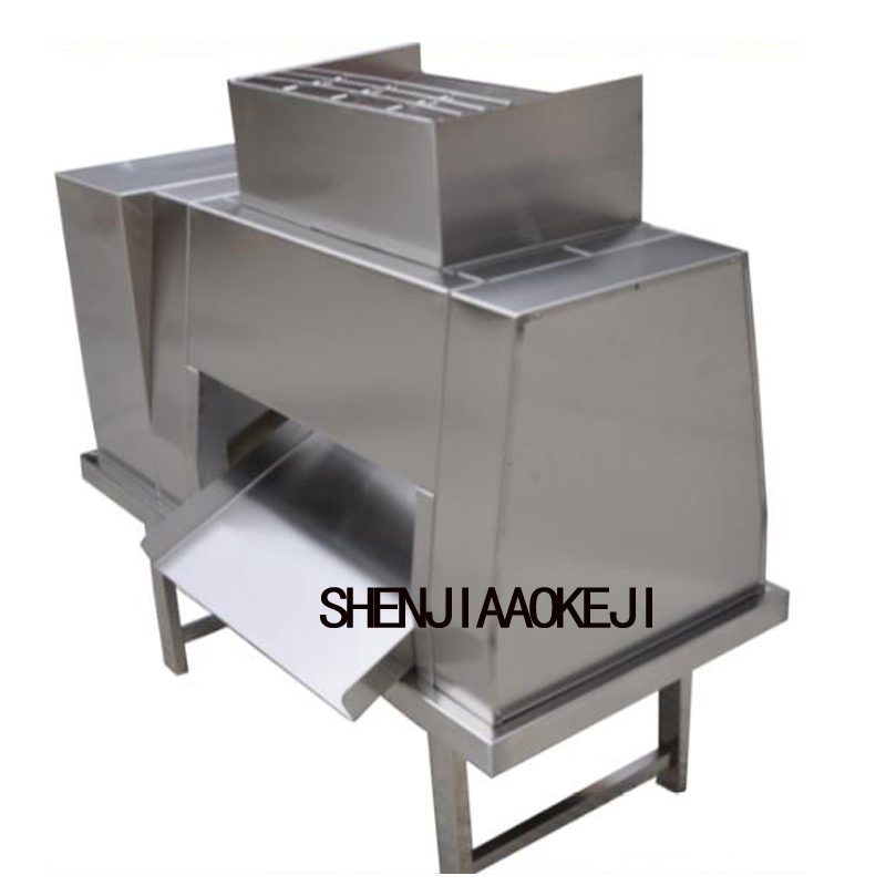 3000kg/h Stainless Steel Meat Slicer Machine QL Commercial Meat Processing Cutting Machine Large Meat Cutter 380V 2200W 1PC