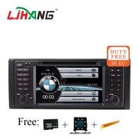 LJHANG 7 дюймов 1 din DVD радио плеер для BMW E39 X5 M5 E38 E53 авто мультимедиа gps навигации радио WI FI BT Зеркало Ссылка