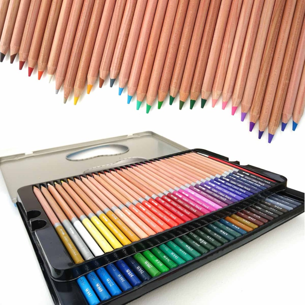 Hero Artist Pencils 60 lapis de cor Profesionales Colored Pencils Watercolor Pencils Lead Water-soluble Color Pencil Wholesale 24 36 colors watercolor pencils lapis de cor professional lapis escolar school paint water soluble color hydrotropic carton