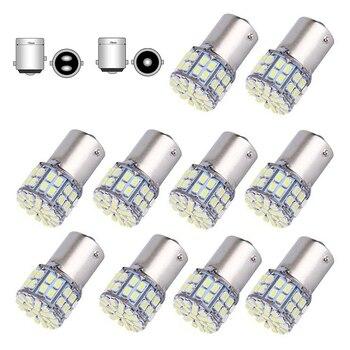 цена на 10x 12V 24V Super Bright 1156 BA15S P21W 1157 Bay15d P21/5W 50SMD 1206 3020 50 Led SMD Car Brake Light Turn Signals Lamps