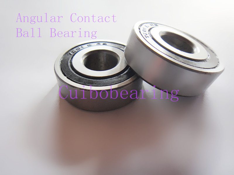 Free shipping 2pcs bearing  7208B 2RS   angular contact ball bearing 7208 size:40X80X18mm stainless steel angular contact ball bearing 7208 s7208 40x80x18