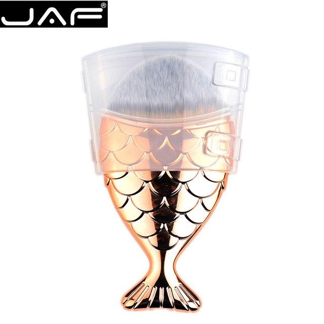 Jaf máscara de oro sirena del pelo cepillo de la fundación con una ...