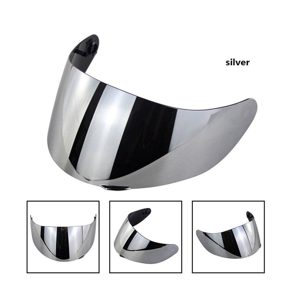 Очки козырек шлем Объектив Маска защитный мотоциклетный шлем объектив для Goggle Для K3SV K5 - Цвет: Silver
