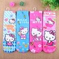 4 unids/lote impresión de la Historieta de hello kitty para niñas kawaii minion niños calcetines encantadores del calcetín del muchacho calcetines niño 1-10 años