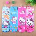 4pieces/lot Cartoon print hello kitty socks for girls minion children socks lovely boy sock kawaii socks child for 1-10 years