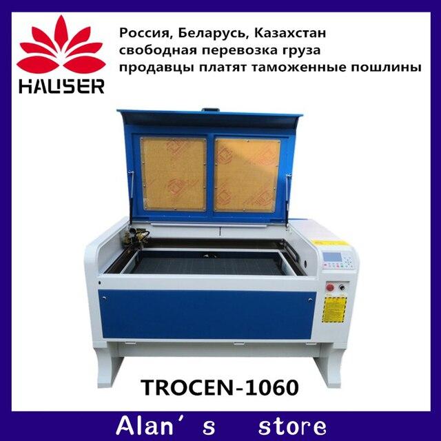 Gratis verzending 1060 100 w Co2 laser graveermachine 1000*600mm 110 V/220 V cnc laser graveur DIY laser markering machine