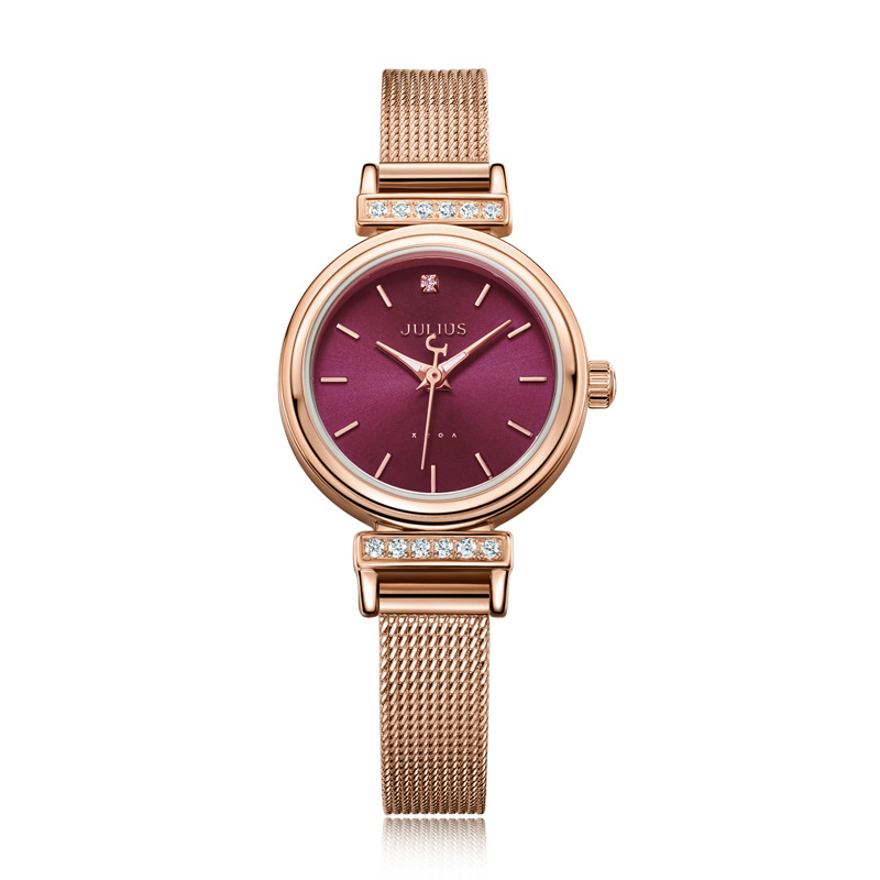 Stainless Steel Simple Small Women's Watch Japan Quartz Hours Fashion Elegant Clock Bracelet Girl's Birthday Gift Julius Box new simple cutting glass women s watch japan quartz hours fashion dress stainless steel bracelet birthday girl gift julius box