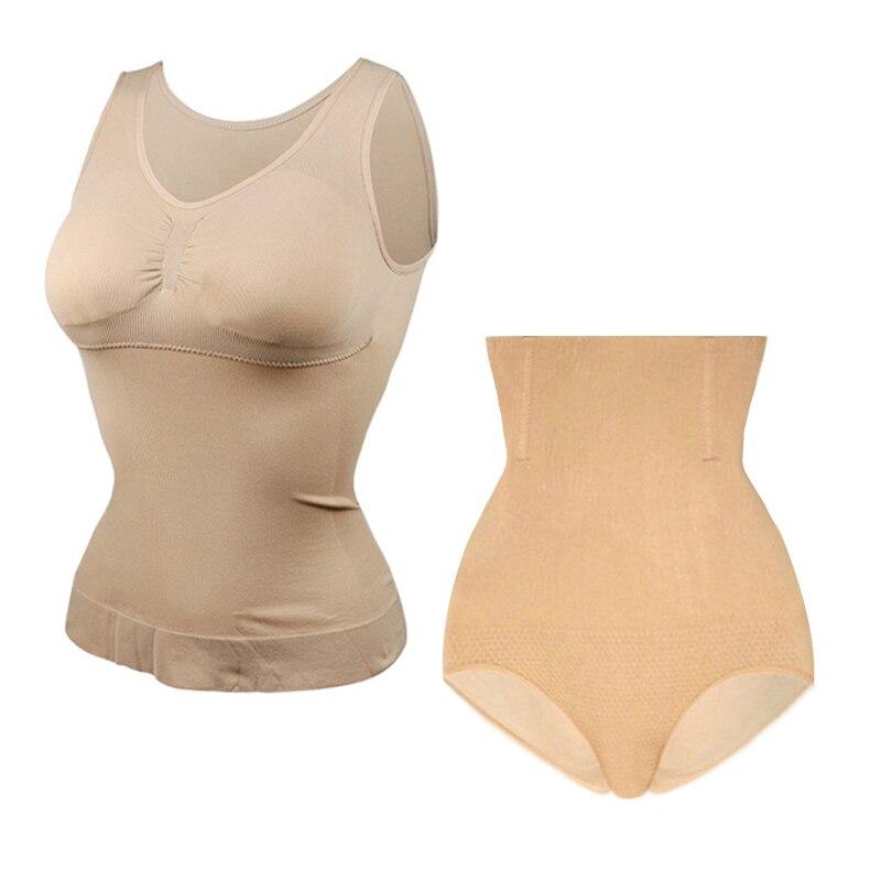 Las nuevas mujeres Slim elevación sujetador moldeador tops de la forma del cuerpo camisola de corsé en la cintura de adelgazamiento formadores Super delgado sin tanque gota