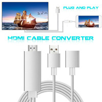 Plug And Play Digital AV Adapter To HDMI Converter Cable 1080P For IPhone IPad Android Type
