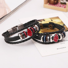 Friendship Bracelets Anime Leather Charm Wristband
