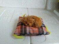 About 10x10x5cm Mat Golden Retriever Dog Model Toy Polyethylene Furs Handicraft Miniatures Decoration Gift A2265