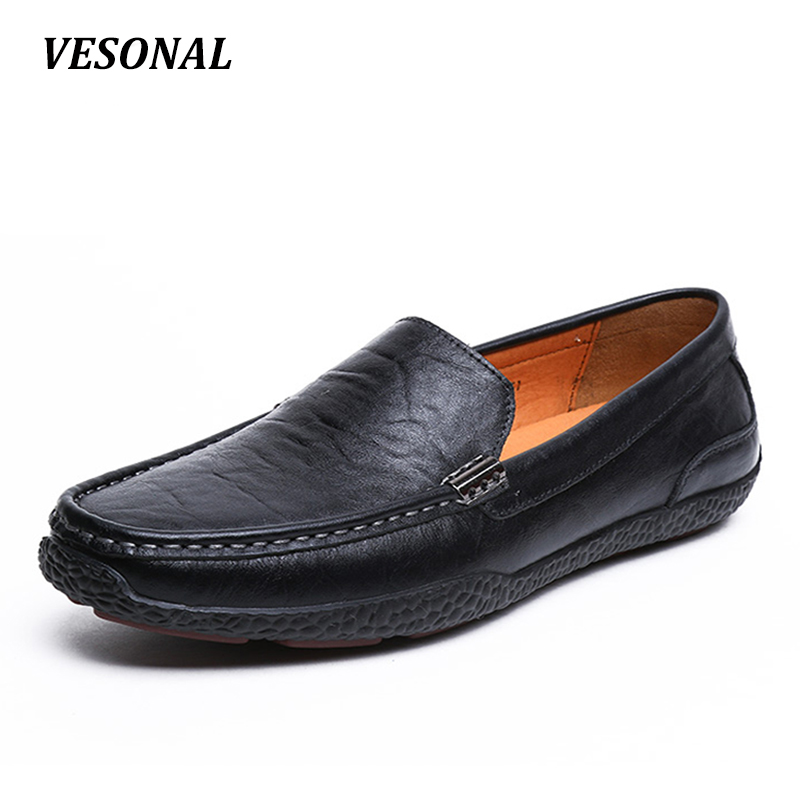 VESONAL 2017 Summer Luxury Driving Breathable Genuine Leather Flats Loafers Men Shoes Casual Fashion Slip On Size 38-44 V1602 vesonal 2017 summer luxury driving breathable genuine leather flats loafers men shoes casual fashion slip on size 38 44 v1602