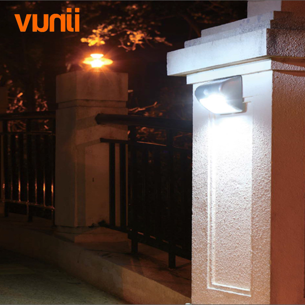Stainless Steel 5LED Solar Motion Sensor Light Garden Wall Light Lamp Waterproof