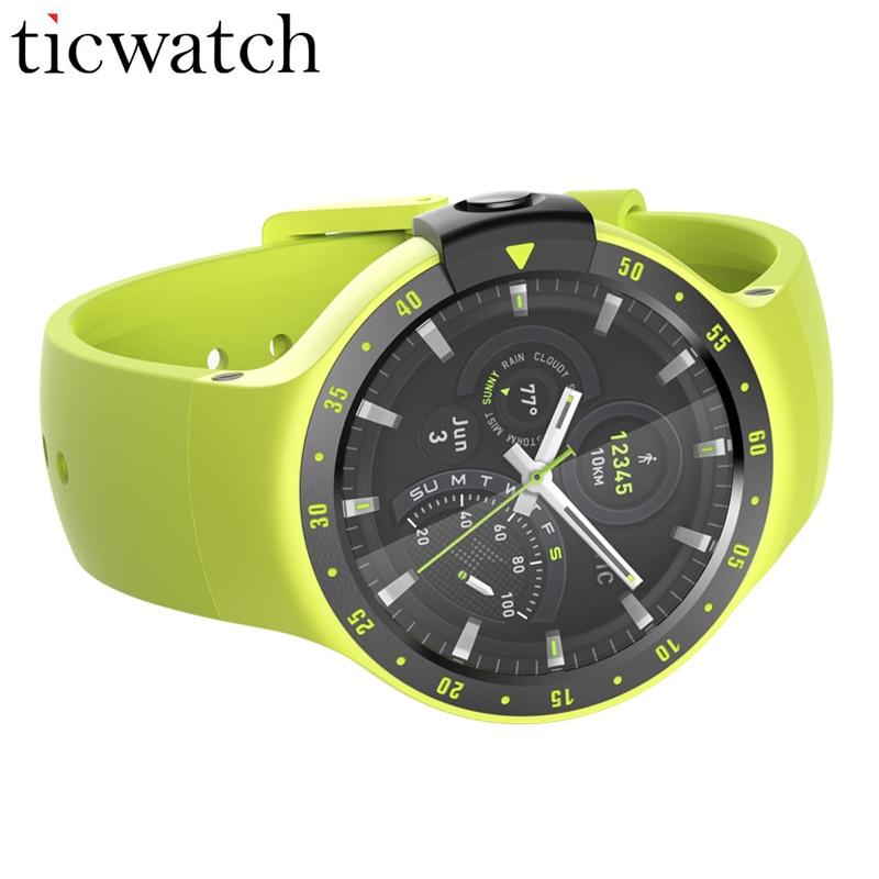 Ticwatch S Aurora Sport Astuto Della Vigilanza del Android Usura 2.0 Bluetooth 4.1 WIFI GPS Frequenza Cardiaca IP67 Resistenza All'acqua Telefono Della Vigilanza