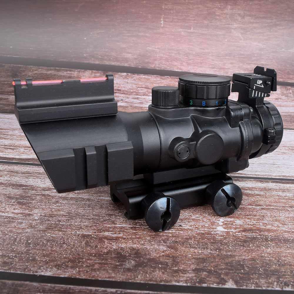 رؤية صيد 4x32 أكوغ ريفليسكوب 20 مللي متر متوافق مع نطاق الرؤية البصرية للصيد بندقية بندقية الادسنس قناص المكبر الهواء