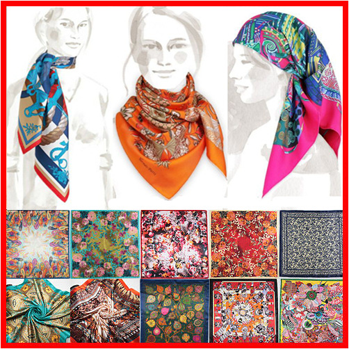 90cm*90cm 2018 Spring New Arrival High Quality Big Size Imitated Silk Satin Scarves Shawl Women Square Silk Scarf 26 Colors