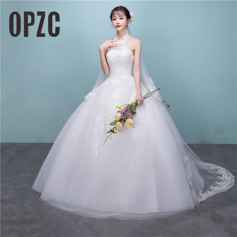 Halter Style Wedding Gowns: Korean Style Vestido De Noiva 2018 Custom Made Size