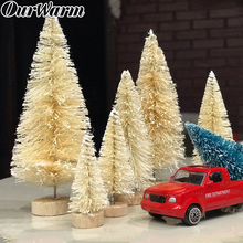 OurWarm 8/24pcs DIY Christmas Tree Small Pine Mini Trees Placed In The Desktop Home Table Decoration Kids Gifts
