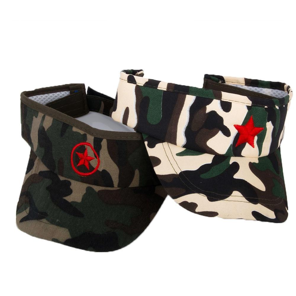 100% QualitäT Sommer Sonnenhüte Für Kinder Unisex Camouflage Roten Stern Hut Für Junge Mädchen