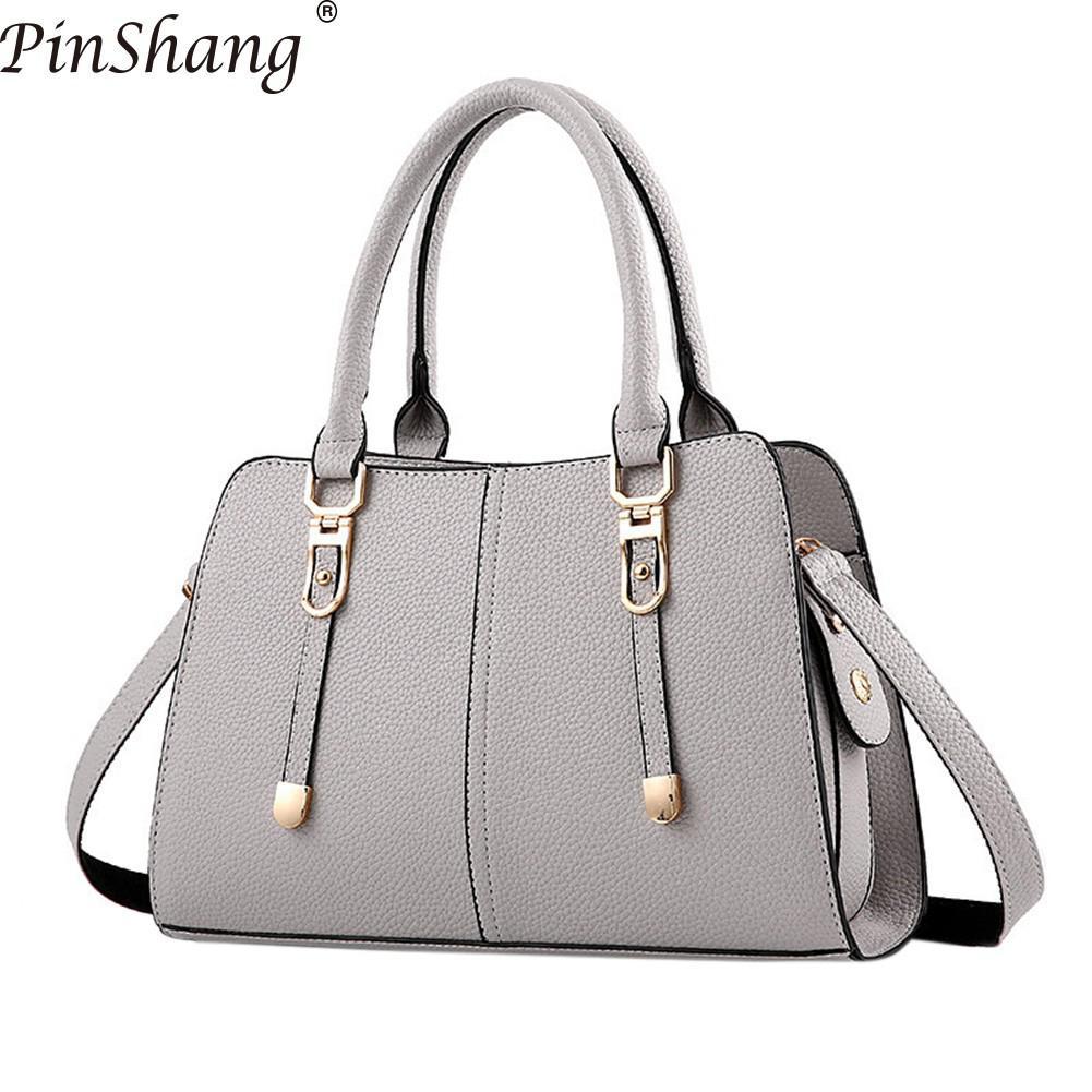 PinShang Women Handbag Fashion PU Lether Satchel Handbag Single Shoulder Oblique Cross Bag Fashion Bags for Women 2018 ZK40