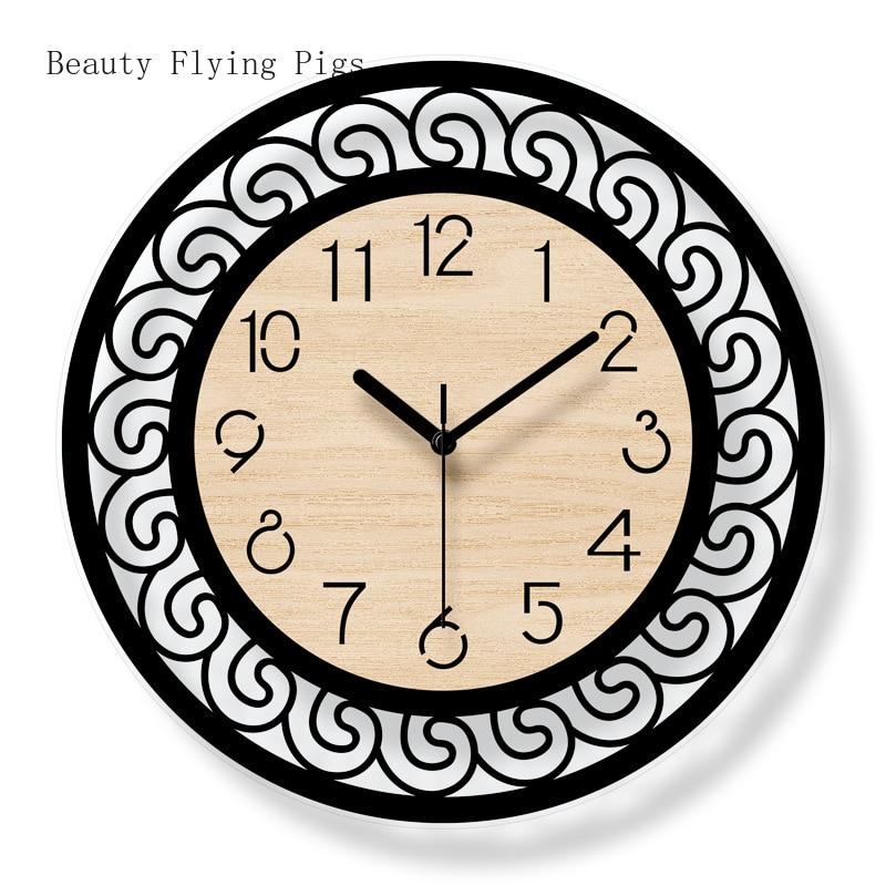 1 pièces ins simple créatif mode salon chambre silencieux horloge sélection de décoration acrylique sans pollution