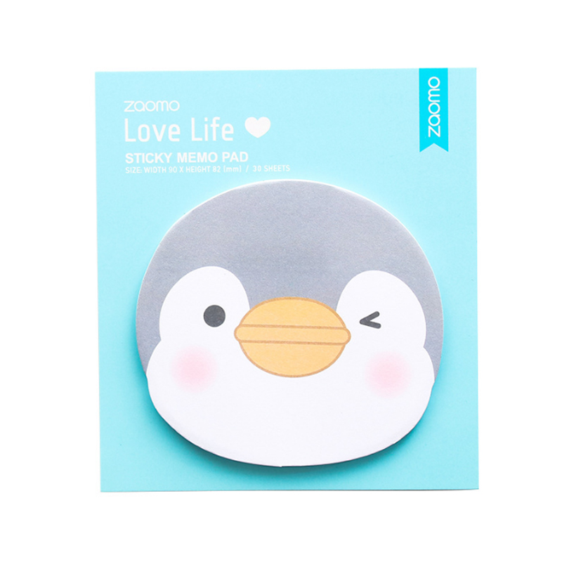 30 sheets Kawaii Little Penguin Memo pad Sticker Portable message stickers Pad Sticky Post Diy Office School Stationery in Memo Pads from Office School Supplies