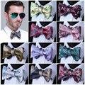 Пейсли Цветочный 100% Шелк Жаккард Тканые Мужчины Классические Свадебные Бабочка Самостоятельная Bow Tie BowTie C6