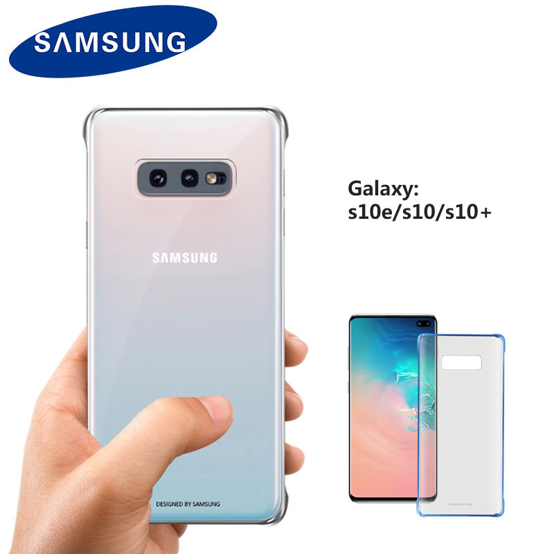100% Original Samsung Galaxy S10 / S10 Plus / S10E Transparent Case Plating Hard Clear Full 360 Degree Protective Back Cover
