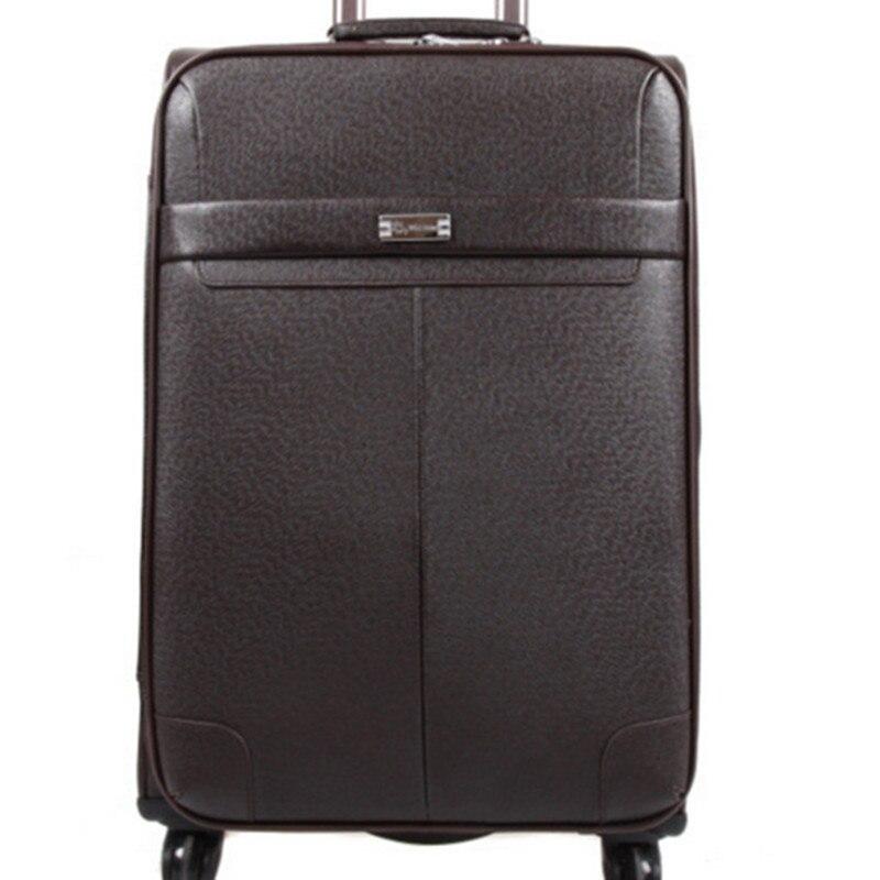 Letrend Модные Цвет ABS сумки на колёсиках Spinner Женская тележка чемодан колёса 20/24 дюймов вести дорожная сумка Hardside багажник - 3