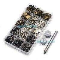1 компл. 12.5 мм кнопки Крепежи Попперс Пресс инструмент Вышивание кожа кнопку DIY Kit