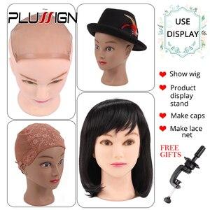 "Image 5 - Plussign נקבה Mannequin ראש קירח עם שולחן מהדק מקצועי גמד ראש לפאה ביצוע כובע תצוגת איפור עיסוק 19  21"""