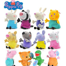 19 см оригинальная Свинка Пеппа 13 см Свинка Пеппа Джордж Семья кукла 8 друг конфеты Данни Emily Zoe Suzy Дети Плюшевые игрушки детский подарок на день рождения