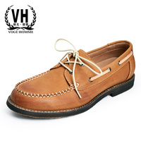 Autumn New British Leather Casual Shoes Retro Youth Lazy Lazy Shoes Laces Soft Noodles Low Shoes