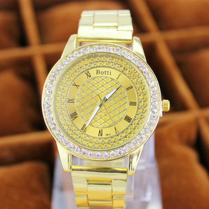2019 New Brand Gold Grid Crystal Casual Quartz Watch Kvinnor - Damklockor - Foto 2