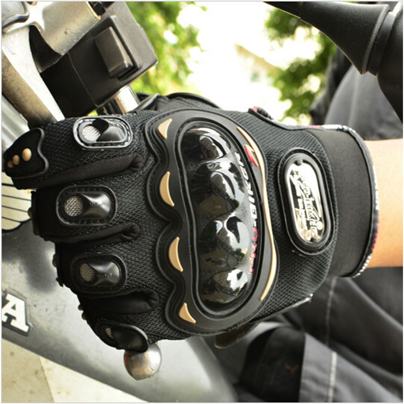 New Sports Moto Motorcycle Riding Auto Engine Protection Guantes Full Finger Protective Luvas Racing Cycling Gloves Leather