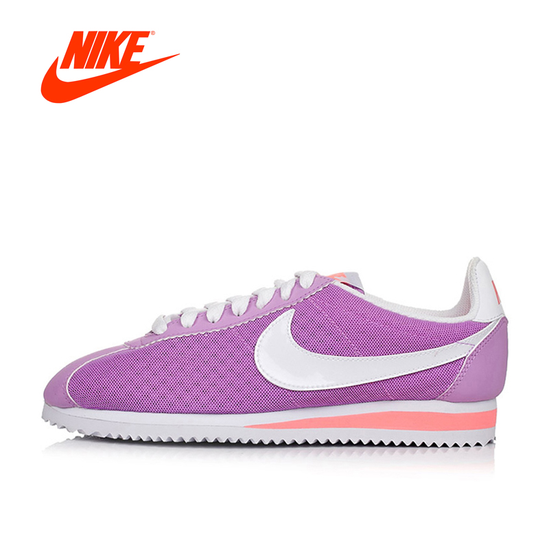 Official Nike Breathable CLASSIC CORTEZ BR Women's Skateboarding Shoes sneakers original nike wmns classic cortez nylon women s skateboarding shoes sneakers