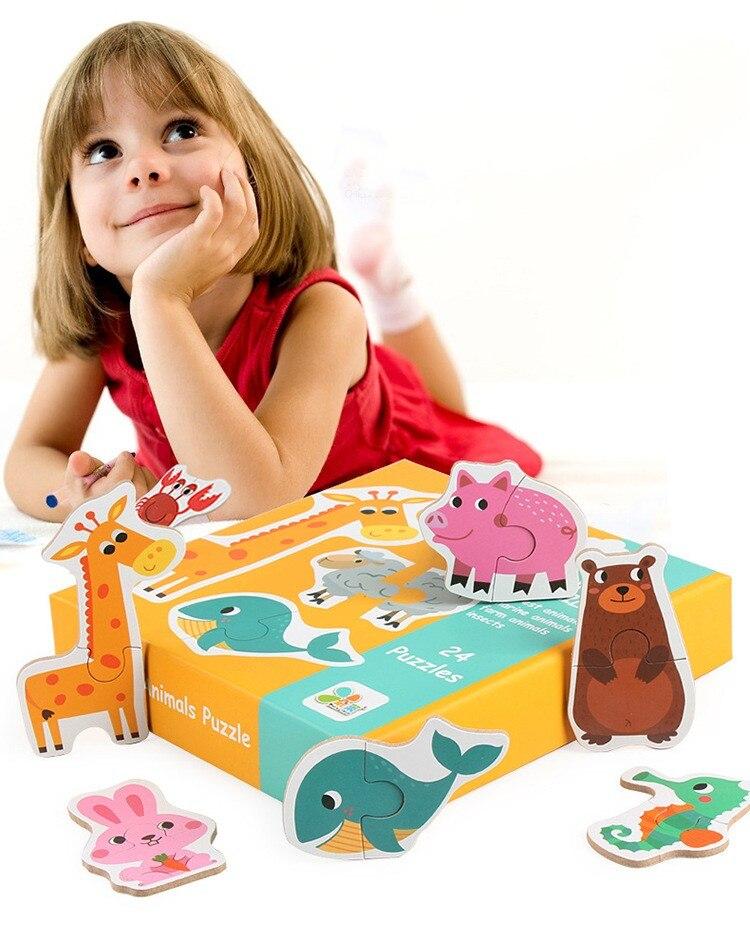 Crianças Frutas Legumes Transporte Early Learning Fun Correspondência Animal Puzzle Brinquedos Para Crianças Crianças Brinquedo Educativo Presente