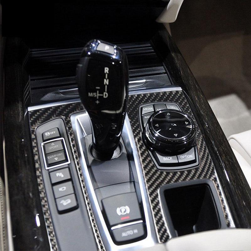 2PCS Carbon Fiber Car Rear Air Outlet Cover Trim for BMW X5 X6 F15 F16 2014-18