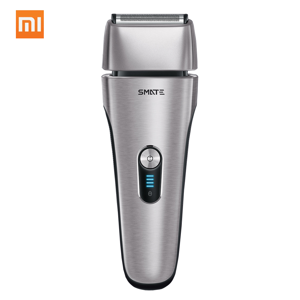 Xiaomi Mijia SMATE Reciprocating Electric Razor 4 Blade Electric i- Shaver 3 Minute Fast Charge 4- Shaver Dry and Wet Available runwe rs726 reciprocating electric shaver for men strong power fast close shaver razor 2017 new arrival blue body design shaver