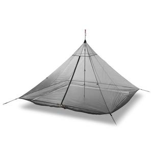 Image 5 - 620g خفيفة التخييم خيمة الداخلية 4 أشخاص 3 مواسم 40D النايلون تنفس شبكة خالية يغرق مثمنة الهرم قعر خيمة ضخمة