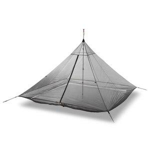 Image 5 - 620g Ultralight Camping Inner Tent 4 Personen 3 Seizoenen 40D Nylon Ademend Mesh Stangloze Achthoekige Piramide Bodemloze Grote Tent